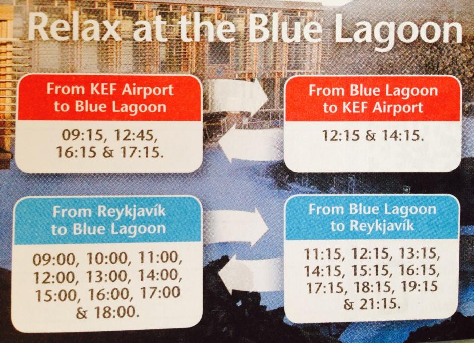 Blue Lagoon バス時刻表