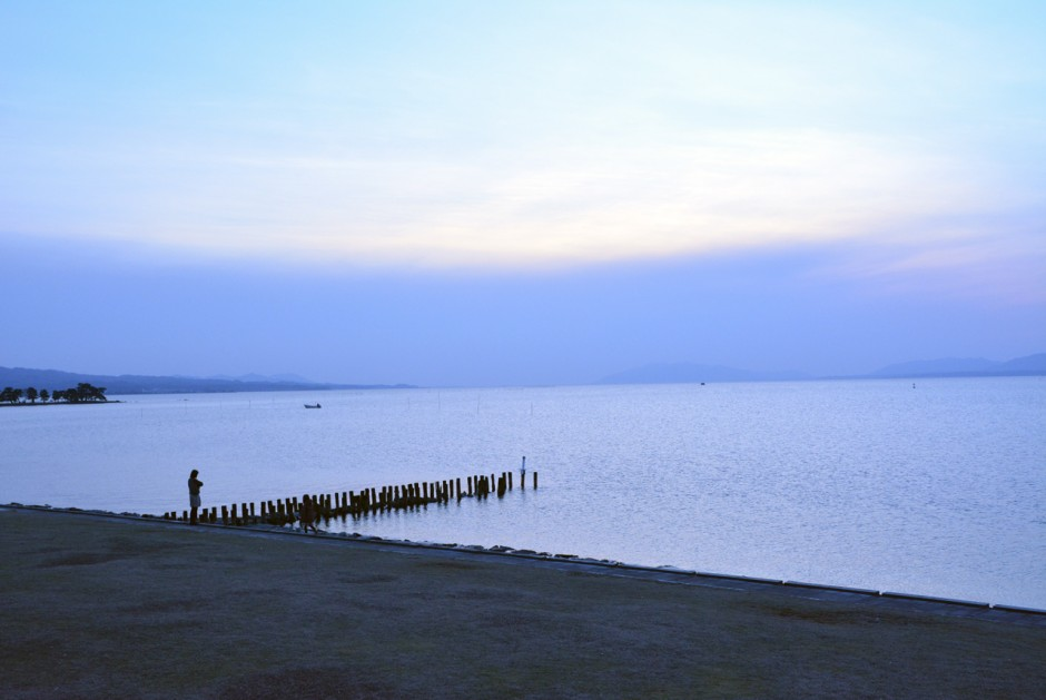 島根県立美術館から見渡す宍道湖
