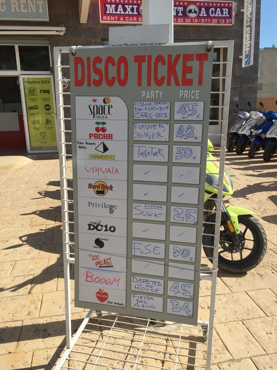 前売券:イビサ島クラブイベントのチケットを安く買う方法